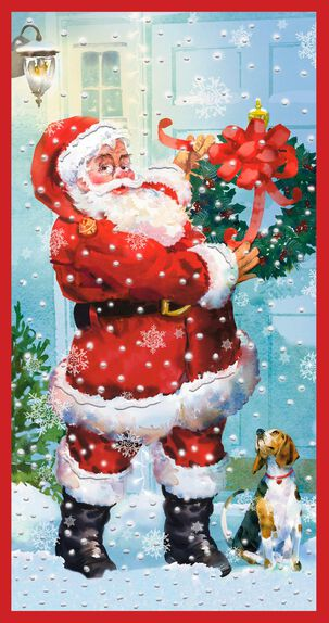 Vintage Santa Money Holder Christmas Card, Pack of 10