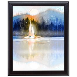 Lake Scene 20x24 Print With Matted Frame, , large