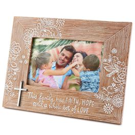 Faith and Family Picture Frame, 6x4, , large