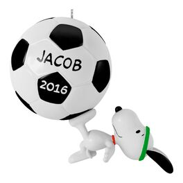 Kickin' With Snoopy Soccer Ornament, , large