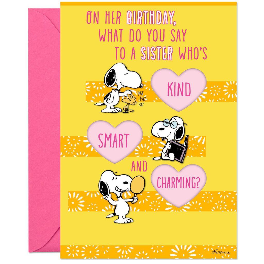 Peanuts® Snoopy Love Ya Birthday Card for Sister - Greeting Cards - Hallmark
