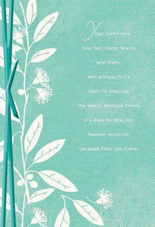 God Holds You Close Religious Sympathy Card