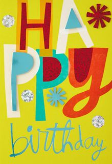 Simply Colorful Birthday Card,