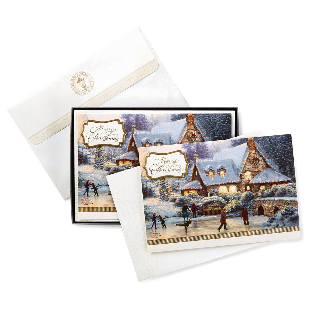 Thomas Kinkade Holiday Skaters Christmas Cards, Box of 12 - Boxed ...
