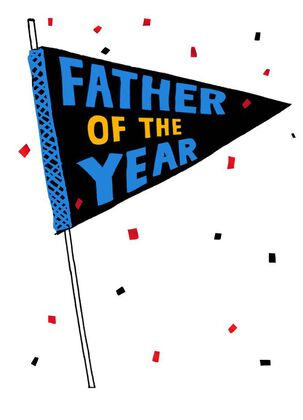 Father of the Year Pennant Father's Day Card