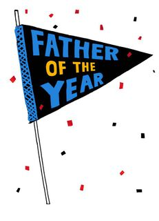 Father of the Year Pennant Father's Day Card,