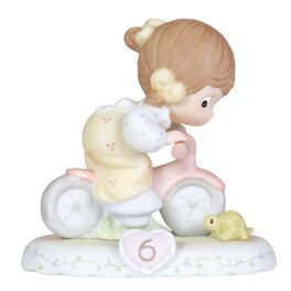 Precious Moments® Growing in Grace Brunette Hair Girl Figurine, Age 6, , large