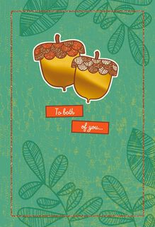 Pair of Acorns Thanksgiving Card,