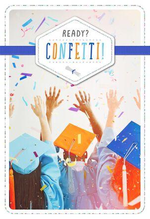 Ready Confetti Graduation Card