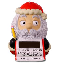 Checking It Twice! Santa's List Solar Motion Ornament, 2016 Edition, , large