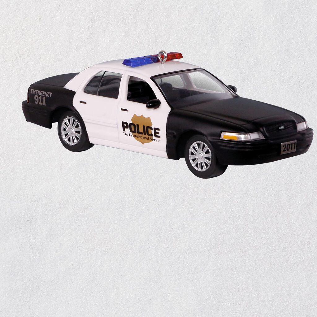 2011 ford crown victoria police interceptor metal ornament