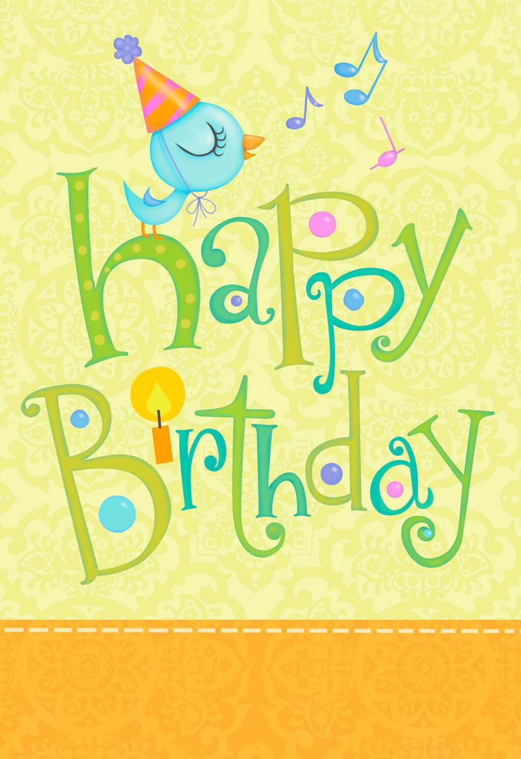 Blue Bird Happy As A Song Birthday Card