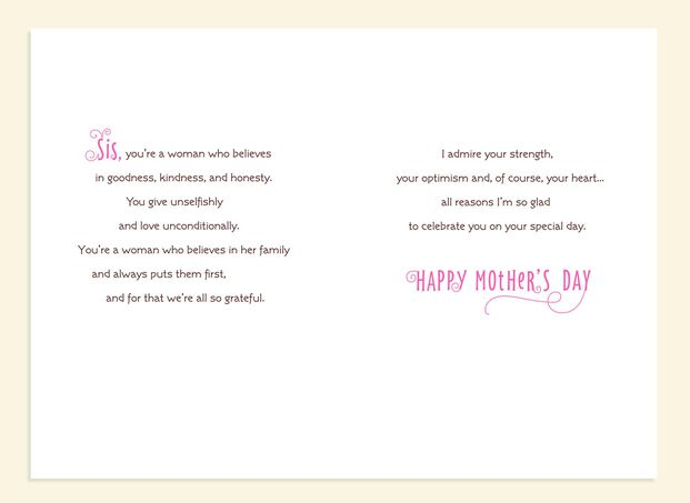 Smart, Classy, Confident Mother's Day Card for Sister