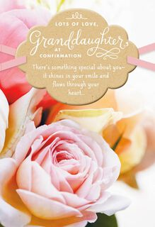 Beautiful Roses Confirmation Card for Granddaughter,