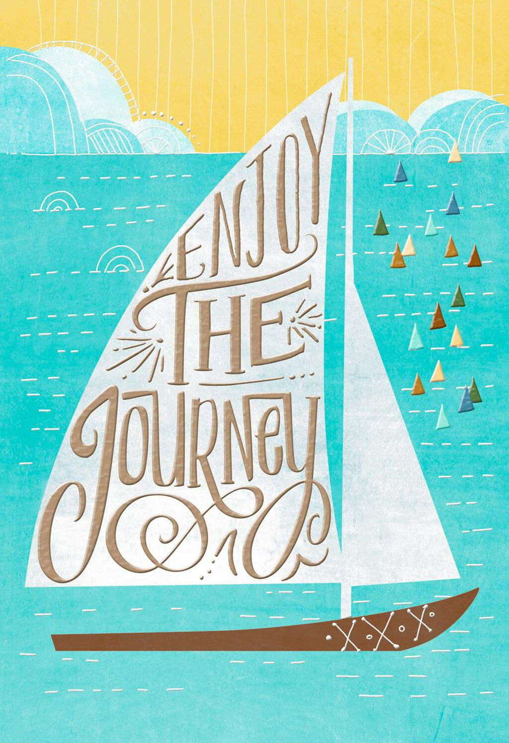 Sailboat Enjoy the Journey Religious Birthday Card - Greeting Cards ...