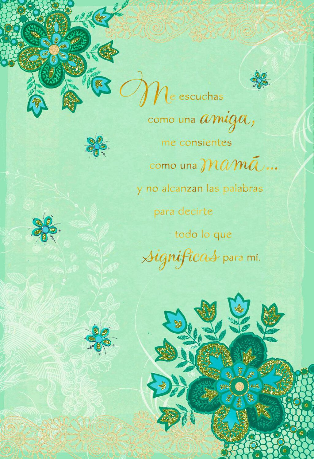 Like A Mom Spanish Language Mothers Day Card From Friend Greeting