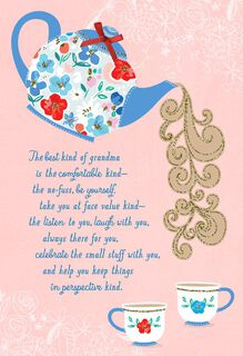 Tea Time Religious Mother's Day Card for Grandmother,