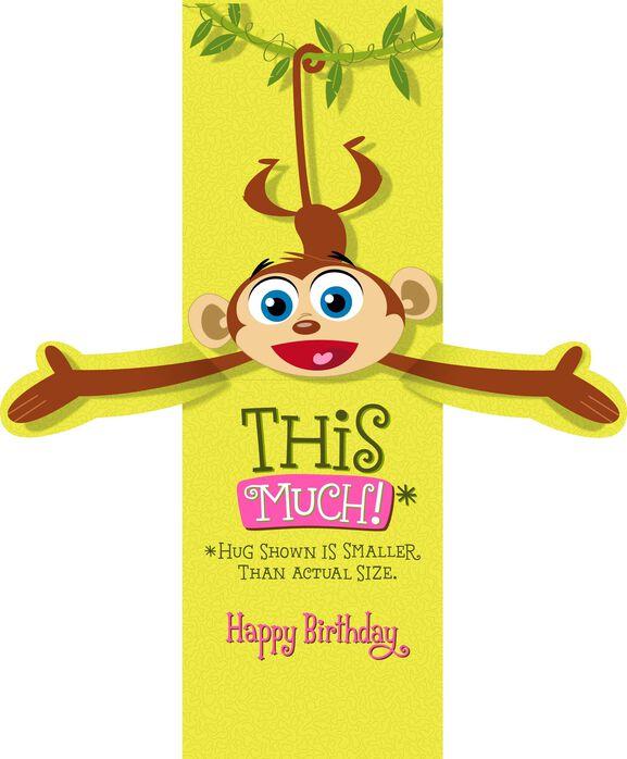 Monkey Happy Birthday Card for Nana Greeting Cards Hallmark – Birthday Card Monkey