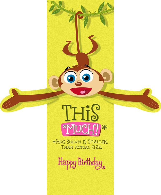 Monkey Happy Birthday Card for Nana Greeting Cards Hallmark – Happy Birthday Card Hallmark