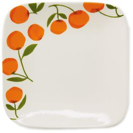 Oranges on White Small Plate, , large