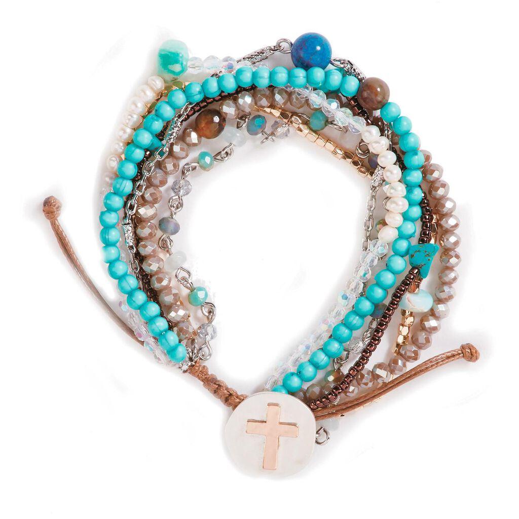 04db51638 Turquoise Your Journey Layered Prayer Bracelet - Jewelry - Hallmark