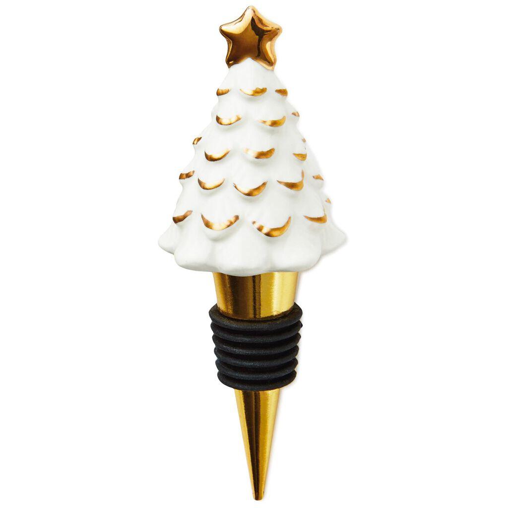 christmas tree wine bottle stopper kitchen accessories hallmark