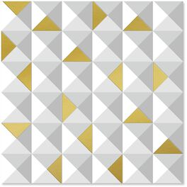 Metallic Geometric Print Wrapping Paper, 1 Sheet, , large