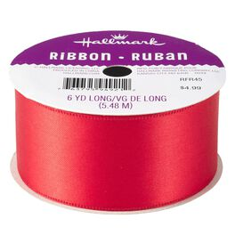 "Scarlet Red 1.5"" Satin Ribbon, , large"