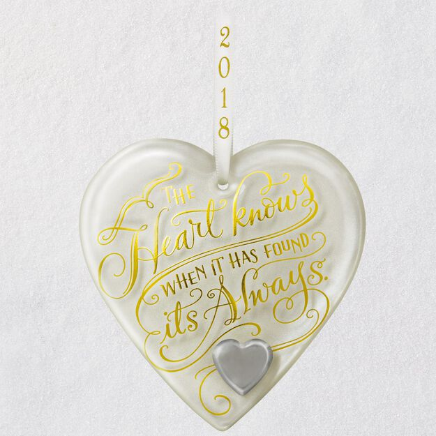 Hy Anniversary Heart 2018 Gl Ornament Keepsake Ornaments Roses And Laces 50th Wedding