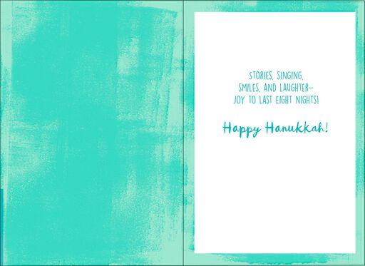 Festival of Lights Menorah Hanukkah Card,