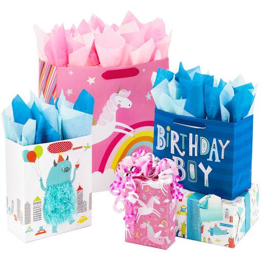 D Printed Paper Gift Present Bag HELLO THERE Children Kids Birthday Horizontal