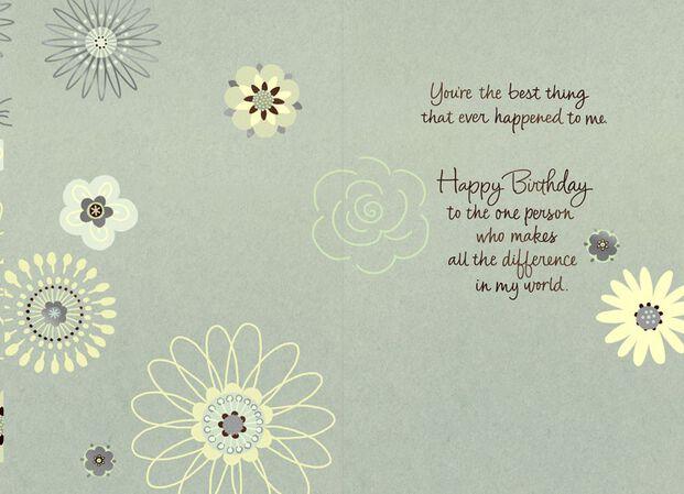 Sweet In Sweetheart Love Birthday Card