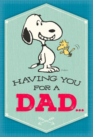 Peanuts® Happy Dance Musical Father's Day Card