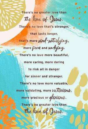 No Greater Love Religious Encouragement Card