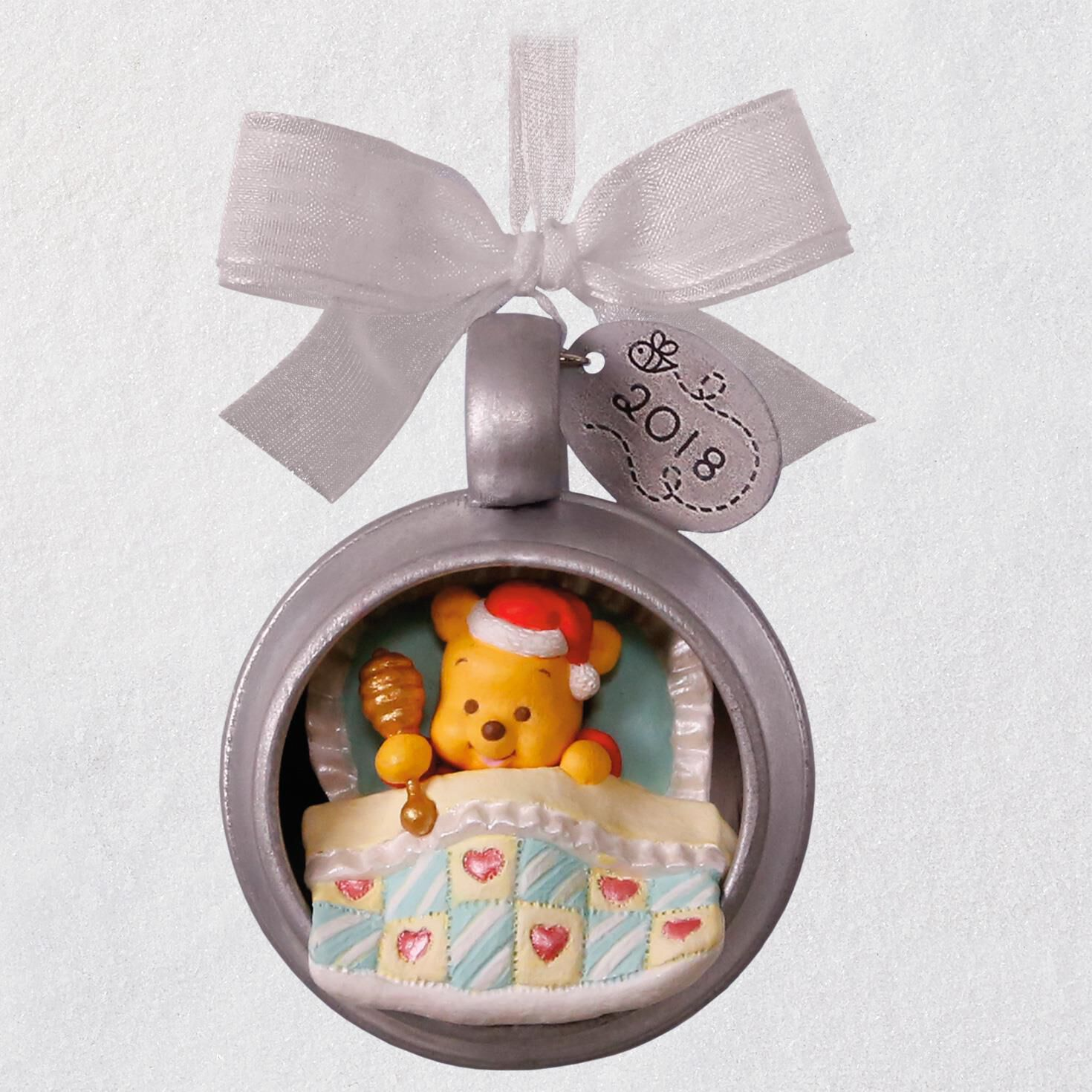 disney winnie the pooh babys first christmas 2018 metal ornament keepsake ornaments hallmark