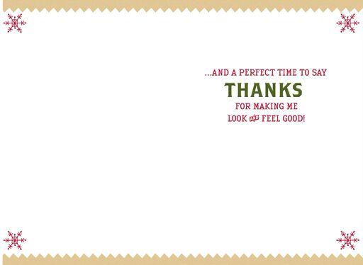 Feel-Good Time of Year Christmas Card for Hair Stylist,