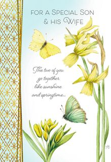 Marjolein Bastin Warm Hearts Easter Card for Son and Daughter-in-Law,
