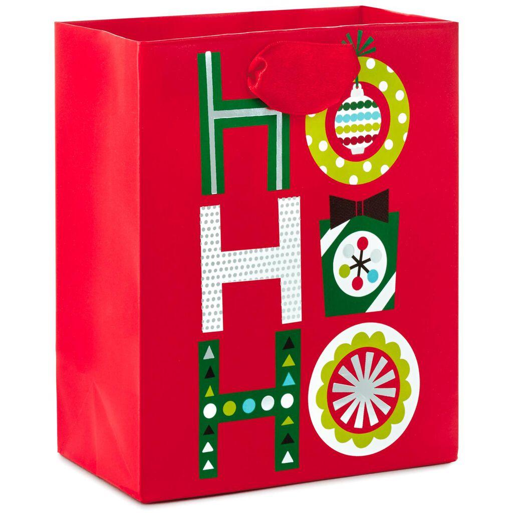 Ho Ho Ho Small Christmas Gift Bag, 6.5\