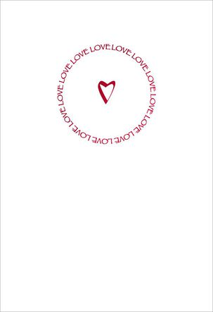 Circle of Love Romantic Valentine's Day Card