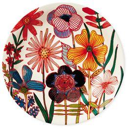 Flowers Ceramic Serving Bowl, , large