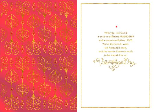 Gold Foil Scrollwork Valentine's Day Card for Husband,