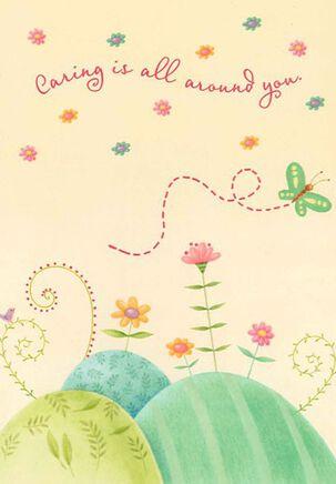 Caring Butterflies Encouragement Card