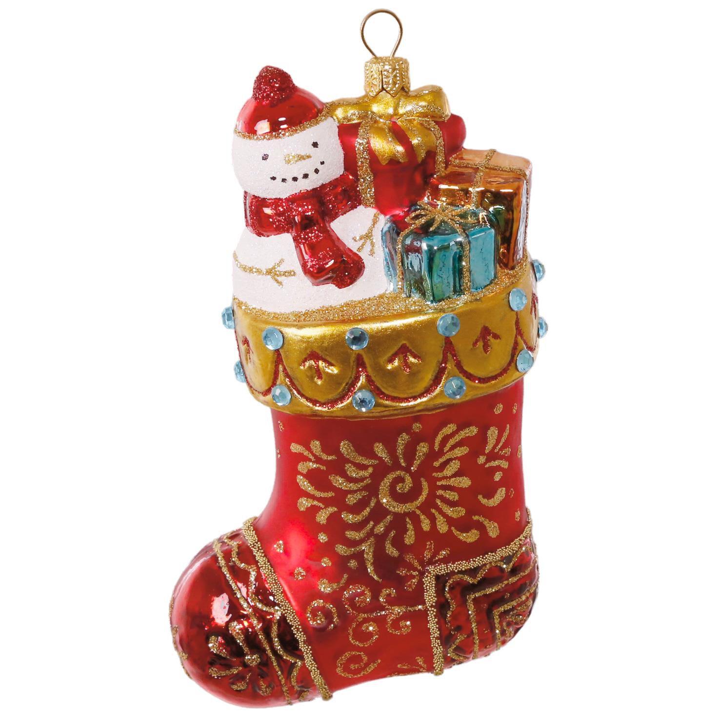 Christmas Stocking Blown Glass Ornament  Specialty Ornaments  Hallmark