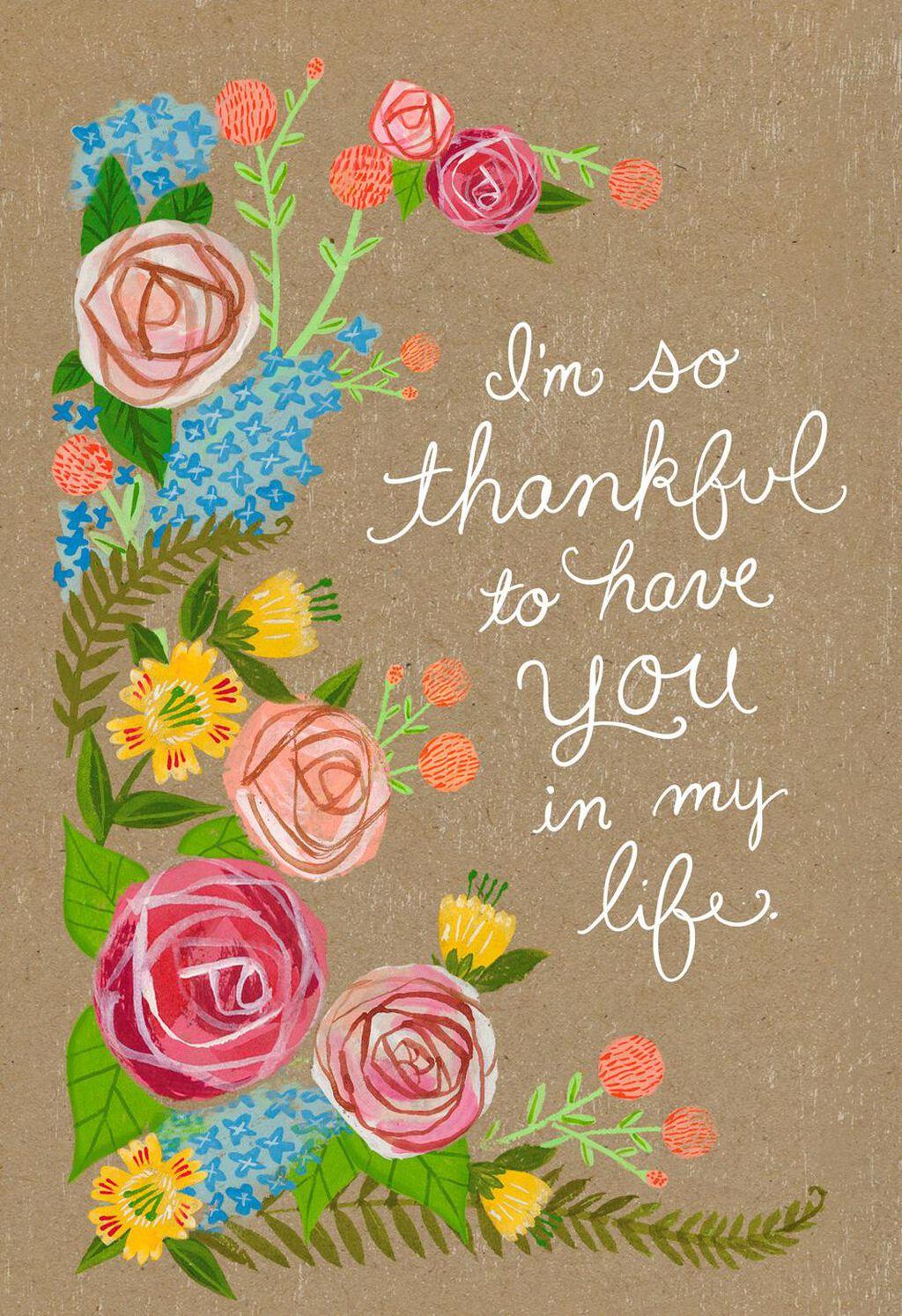 So Thankful For You Birthday Card Greeting Cards Hallmark