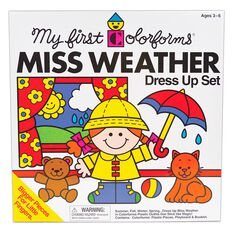 My First Colorforms 174 Miss Weather Dress Up Stickers Set