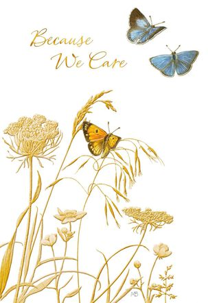 Marjolein Bastin Because We Care Sympathy Card