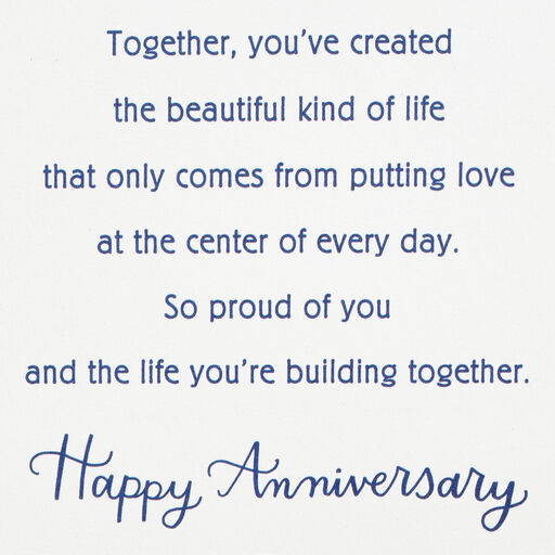 A Day to Remember Anniversary Card for Daughter and Son-in