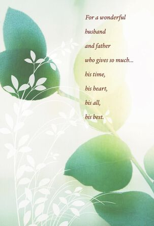 Floating Leaves Father's Day Card