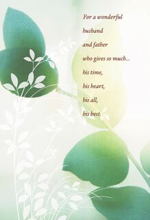 Floating Leaves Father's Day Card,