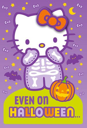 Hello Kitty® Cute Is Always in Style Halloween Card With Barrette